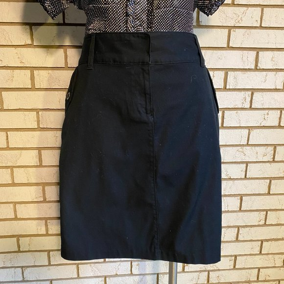 Old Navy | Black front zip skirt SZ 12